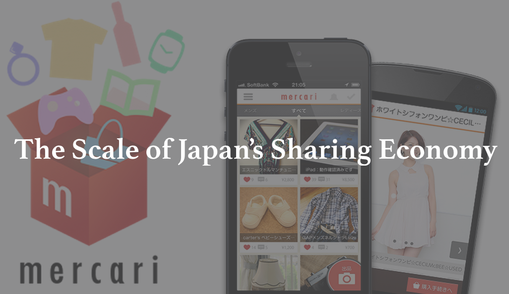 The scale of the sharing economy in Japan reached $5B